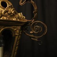 Italian Florentine Giltwood 19th Century Antique Lantern (6 of 10)