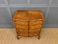 Waring & Gillow Burr Walnut Serpentine Chest of Drawers (10 of 15)