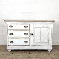 Distressed Antique Pine Cupboard with Painted Base (2 of 10)