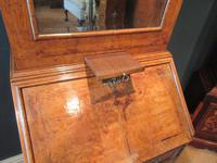 Small Antique Burr Walnut Bureau Bookcase (2 of 12)