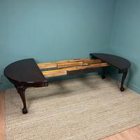 Edwardian Walnut Wind Out Extending Antique Dining Table (8 of 10)