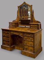 C1890 Burr Walnut Maple & Co Dressing Table (5 of 5)