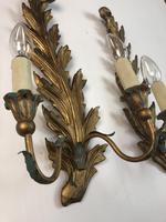 Pair of Vintage Florentine Giltwood Wall Lights (8 of 10)