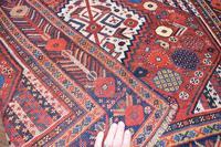 Antique Khamseh tribal rug 217x124cm (8 of 10)