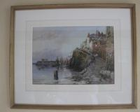 Walter Henry Sweet - Antique Watercolour - Newlyn Old Harbour (3 of 6)