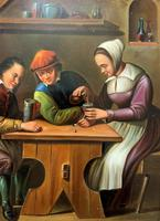 Early 19th Century Dutch School Drinking in a Tavern Oil on Panel Portrait Painting (5 of 11)