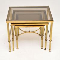 1950's Italian Brass & Glass Nest of Tables (5 of 8)