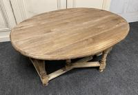 Large Bleached Oak Coffee Table (10 of 11)