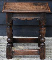 Lovely 19th Century Oak Joint Stool c.1800-1850 (2 of 10)