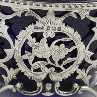 Pretty Edwardian Pierced Silver Sugar Basket (6 of 9)