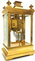 Antique French Table Regulator with Compensating Pendulum 8 Day 4 Glass Mantel Clock (3 of 12)