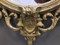 19th Century Ornate Oval Wall Mirror (11 of 16)