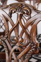 Set of 6 Antique Edwardian Mahogany Chippendale Chairs (15 of 15)