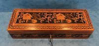 Victorian Satinwood Glove Box With Tunbridge Ware Inlay (5 of 12)