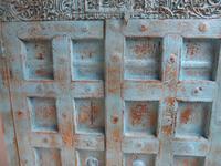 Handmade Indian Mango & Teak Large Painted Sky Blue 2 Door Storage Cupboard (7 of 13)