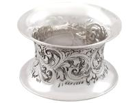 Sterling Silver Napkin Rings Set of Six - Antique Victorian 1897 (6 of 12)