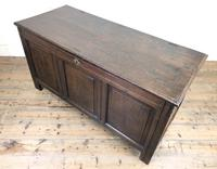 Antique 18th Century Oak Coffer with Panel Front (11 of 14)