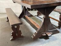 French Farmhouse Dining Table & Benches Set (33 of 33)