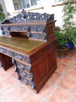 Country Oak Lions Head Pedestal Desk 1850 W M Richardson Ltd (6 of 12)
