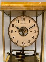 Sienna Marble Electric Bulle Four-glass Mantel Clock (7 of 13)