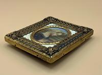 Fabulous early 1900s Italian Miniature Oil Portrait Painting - Stunning Frame!' (5 of 11)