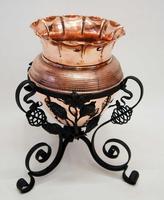 Art Nouveau  Wrought Iron and Copper Planter, Jardinière (3 of 16)