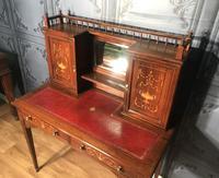 Edwardian Inlaid Rosewood Desk (2 of 23)