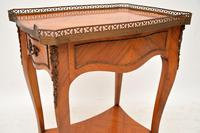 Antique French King Wood Side Table (3 of 9)