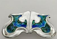 Art Nouveau Silver Enamelled Belt Buckle Kate Harris for William Hutton 1903 (3 of 6)