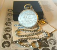 Vintage Pocket Watch 1970s Railroad 9ct White Gold Plated Swiss & West Germany Nos (10 of 12)