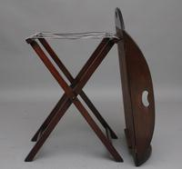 Early 20th Century mahogany folding butlers tray on stand (2 of 8)