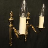 French Pair of Single Arm Antique Wall Lights (4 of 10)