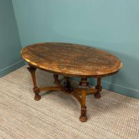 Magnificent Victorian Figured Walnut Antique Centre Table (9 of 9)