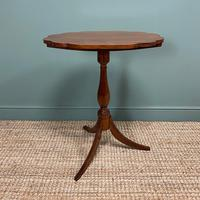 Victorian Mahogany Antique Tripod Occasional Wine / Lamp Table (2 of 6)