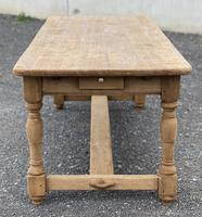 Large French Bleached Oak Farmhouse Table with Extensions (18 of 26)