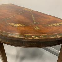 18th Century Decorated Demi-lune Console Table (7 of 11)