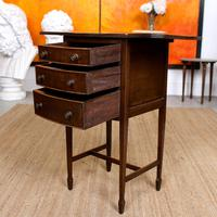 Chest of Drawers Mahogany Bowfront Drop Leaf 19th Century Petite (7 of 11)