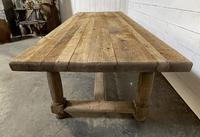 Rare Large & Deep Oak Farmhouse Dining Table (9 of 31)