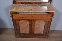 Antique Regency Rosewood Marble Top Chiffonier Side Cabinet (3 of 3)
