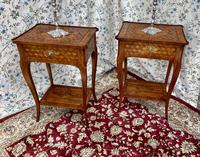 Pair of French Parquetry / Marquetry Side Tables (10 of 20)