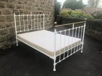 Antique Victorian Brass & Iron Double Bed (5 of 10)