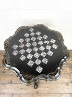 Antique Lacquered and Inlaid Chess Table (4 of 10)