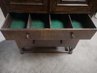 Good Quality Carved Oak Tallboy / Linen Press / Wardrobe (7 of 11)