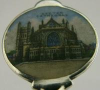 Exeter Cathedral Sterling Silver Enamel Souvenir Spoon 1913 Antique (4 of 5)