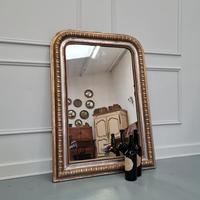 Antique French Gold & Silver Gilded Mirror c.1880 (3 of 4)
