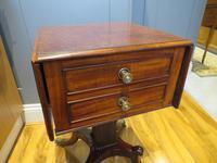 Plum Pudding Mahogany Ladies Work Table c.1830 (5 of 6)
