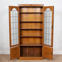 Oak Leaded Glazed Bookcase Arts & Crafts (6 of 10)