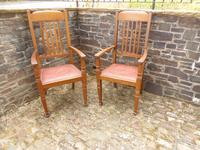 A Pair of Arts and Crafts Oak Chairs (3 of 10)