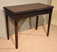 18th Century Carved Mahogany Tea Table (4 of 7)