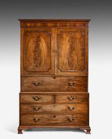 George III Period Mahogany  Clothes Press (2 of 8)